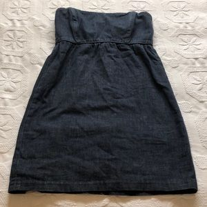 Gap Strapless Dark Wash Denim Dress